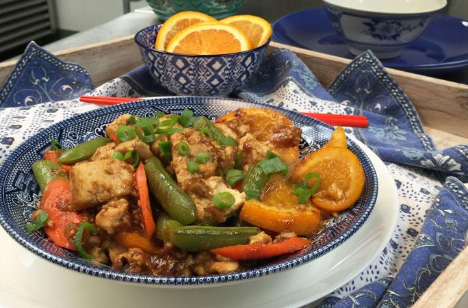 Chinese Orange Tofu