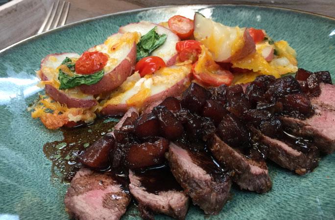 Balsamic Pear Steak