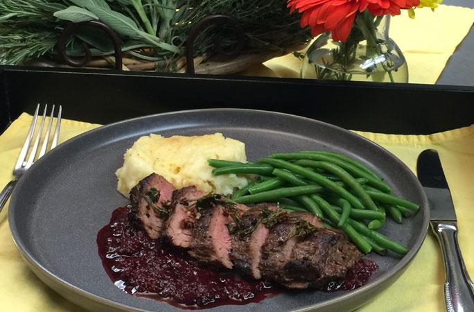 Garlic Rubbed Steak
