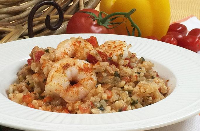 Baked Cajun Risotto Shrimp