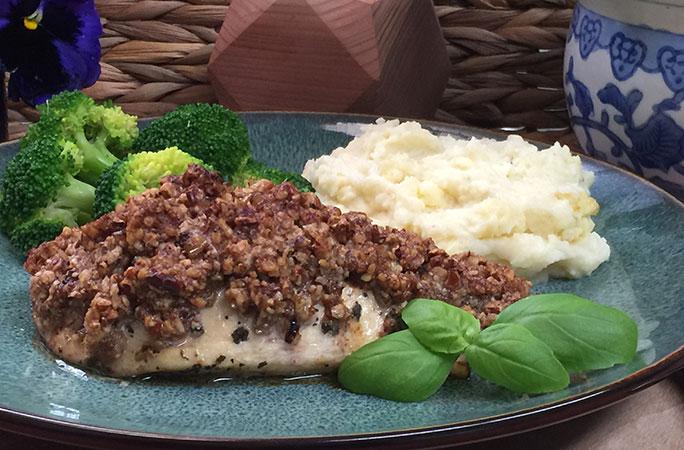 Pecan & Herb Crusted Salmon